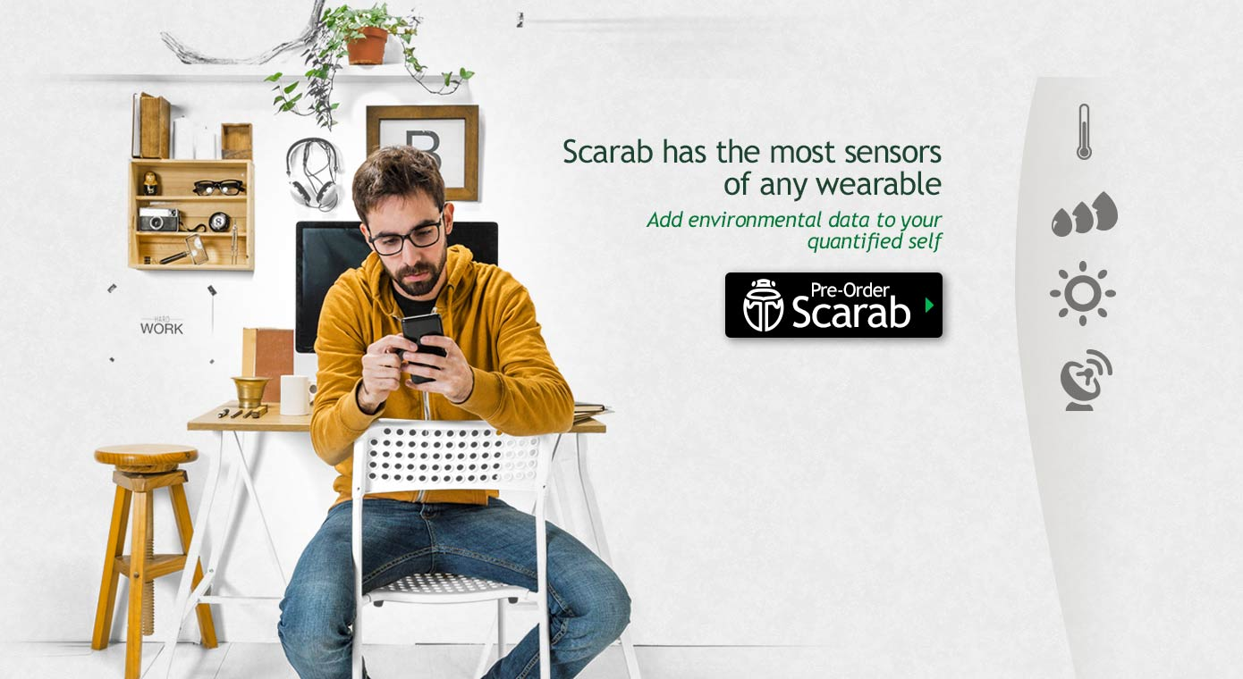 Scarab has the most sensors of any wearable